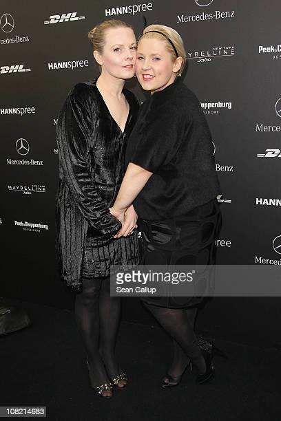 Patricia and Maite Kelly attend the Kilian Kerner Show during the Mercedes Benz Fashion Week Autumn/Winter 2011 at Bebelplatz on January 21 2011 in...