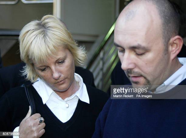 Patricia and Mark Palmer read a statement on the steps of Minshull Street Crown Court Manchester after teacher Paul Ellis was jailed for manslaughter...