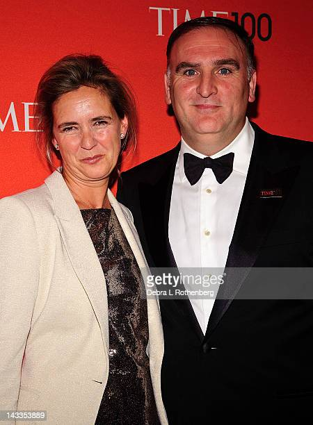 Patricia Andres and Chef Jose Andres attends the Time 100 gala at Frederick P Rose Hall Jazz at Lincoln Center on April 24 2012 in New York City