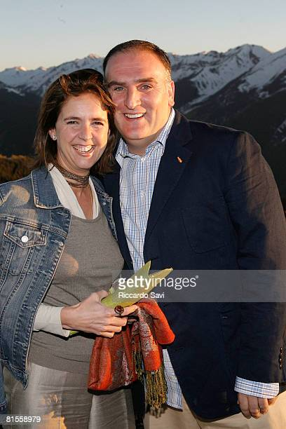 Patricia Andres and Jose Andres attend the American Express Publisher's Party on June 13 2008 at Sundeck at the Top of Aspen Mountain in Aspen...