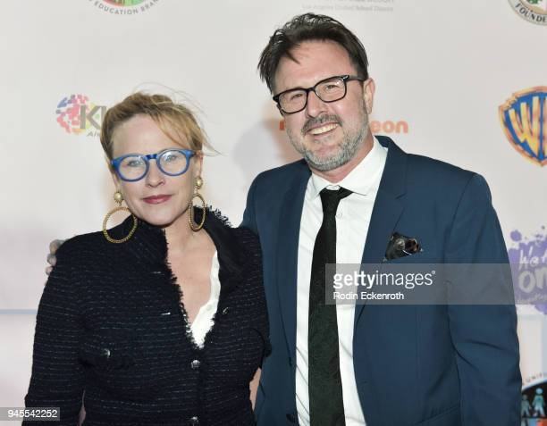 Patricia Arquette and David Arquette attend Los Angeles Unified School District We Are One Benefit Concert at Dorothy Chandler Pavilion on April 12...