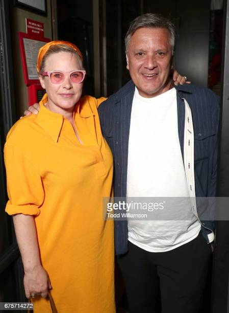 Patricia Arquette and DP Bobby Bukowski attend the after party for the premiere of The Orchard's 'The Dinner' on May 1 2017 in Beverly Hills...