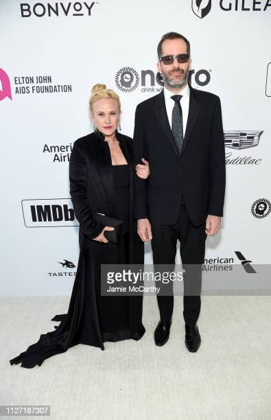 Patricia Arquette and Eric White attend the 27th annual Elton John AIDS Foundation Academy Awards Viewing Party sponsored by IMDb and Neuro Drinks...
