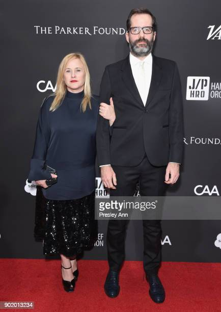 Patricia Arquette and Eric White attend the 7th Annual Sean Penn Friends HAITI RISING Gala benefiting J/P Haitian Relief Organization on January 6...
