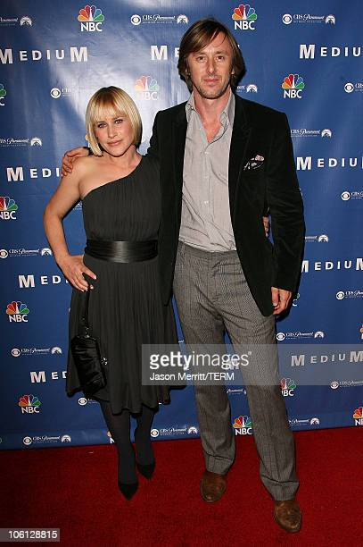 Patricia Arquette and Jake Weber during NBC Hit TV Series Medium Soiree Arrivals at Stephen Cohen Gallery in Los Angeles California United States