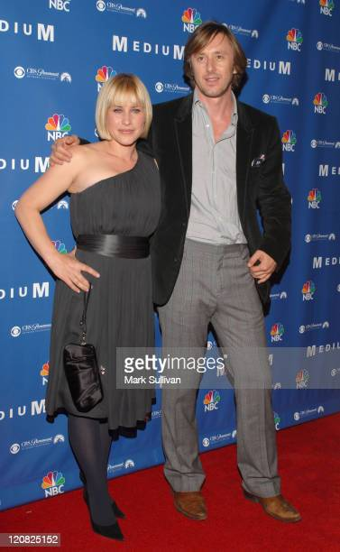Patricia Arquette and Jake Weber during NBC Hosts Medium Supernational Soiree at Stephen Cohen Gallery in Beverly Hills California United States