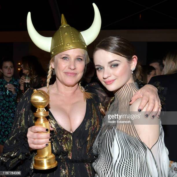 Patricia Arquette and Joey King attend The Walt Disney Company 2020 Golden Globe Awards PostShow Celebration at The Beverly Hilton Hotel on January...