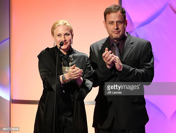 Patricia Arquette and Richmond Arquette are seen on stage during the 3rd Annual Noble Awards held at the Beverly Hilton Hotel on February 27 2015 in...