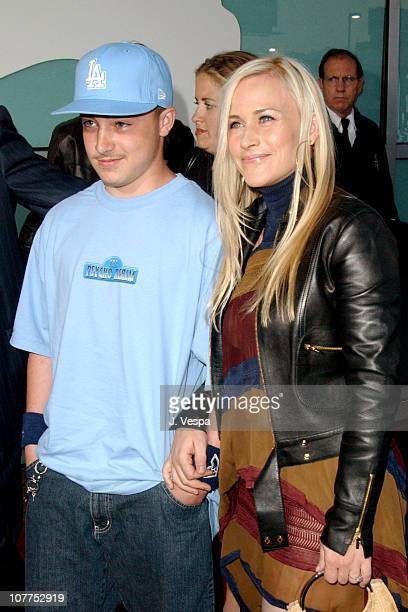 """Patricia Arquette and son Enzo Rossi during """"The Punisher"""" Los Angeles Premiere - Red Carpet at ArcLight Theater in Hollywood, California, United..."""