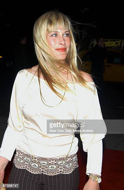 """Patricia Arquette arrives for the New York premiere of the movie """"Human Nature"""" at the Chelsea West Theater. She stars in the film."""