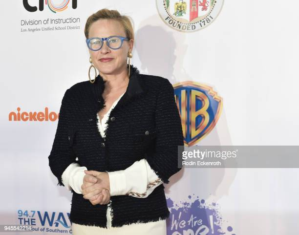 Patricia Arquette attends Los Angeles Unified School District We Are One Benefit Concert at Dorothy Chandler Pavilion on April 12 2018 in Los Angeles...