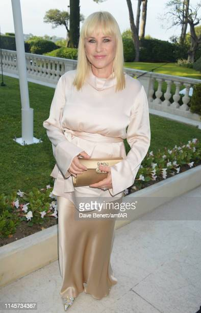 Patricia Arquette attends the amfAR Cannes Gala 2019 at Hotel du Cap-Eden-Roc on May 23, 2019 in Cap d'Antibes, France.