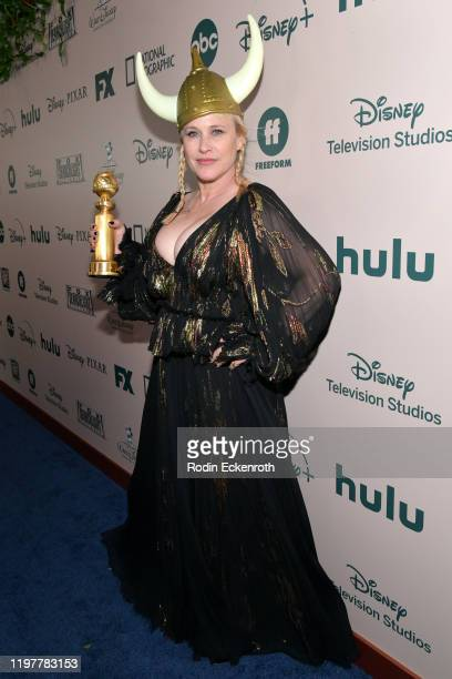 Patricia Arquette attends The Walt Disney Company 2020 Golden Globe Awards Post-Show Celebration at The Beverly Hilton Hotel on January 05, 2020 in...