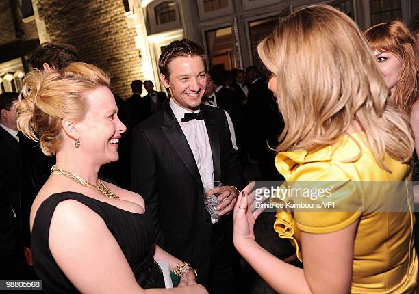 Patricia Arquette Jeremy Renner and Jessica Simpson attend the Bloomberg/Vanity Fair party following the 2010 White House Correspondents' Association...