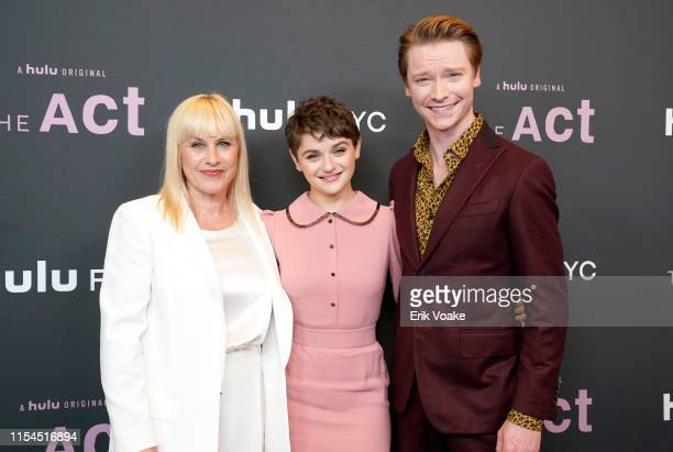 Patricia Arquette Joey King and Calum Worthy attend Hulu's The Act FYC event at Linwood Dunn Theater at the Pickford Center for Motion Study on June...