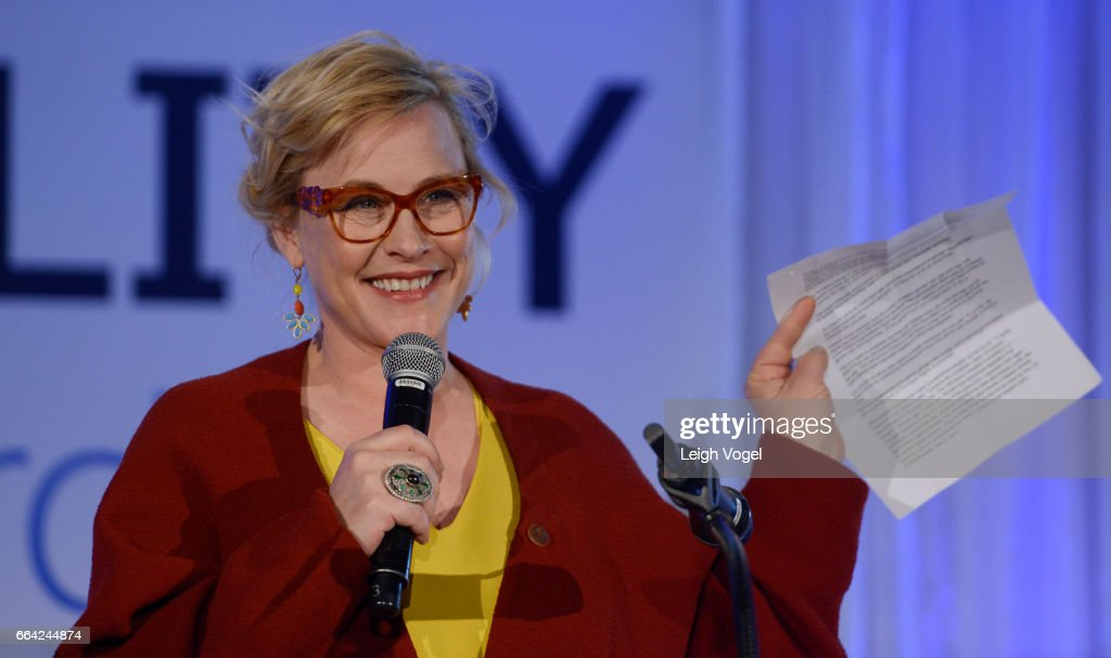 Patricia Arquette receives a Salesforce Equality Award at the National Museum of Women in the Arts on April 3, 2017 in Washington, DC.
