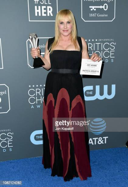 Patricia Arquette winner of Best Actress in a Movie/Limited Series for 'Escape at Dannemora' poses in the press room during the 24th annual Critics'...