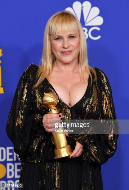Patricia Arquette, winner of Best Performance by a Supporting Actress in a Series, Limited Series, or TV Movie, poses in the press room during the...