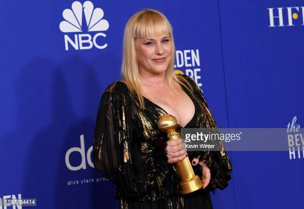 Patricia Arquette winner of Best Performance by a Supporting Actress in a Series Limited Series or TV Movie poses in the press room during the 77th...