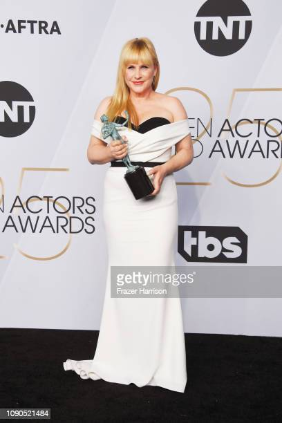 Patricia Arquette winner of Outstanding Performance by a Female Actor in a Miniseries or Television Movie for 'Escape at Dannemora' poses in the...