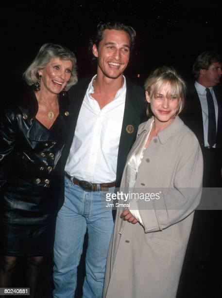 Patricia Arquette with Matthew McConaughey and his mother