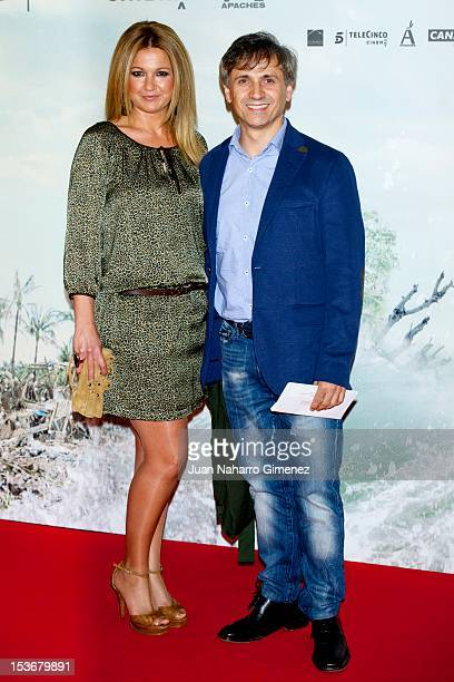 Patricia Arribas and Antonio Mota attends the 'The Impossible' premiere at Kinepolis cinema on October 8, 2012 in Madrid, Spain.