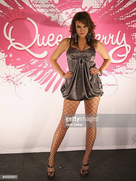 Patricia attends the photocall ahead of the Just 4 Girls finals on December 11 2008 in Berlin Germany Patricia will face two other candidates in the...