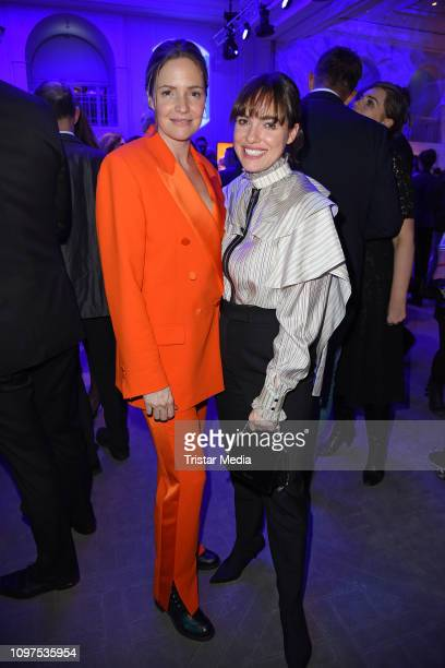Patricia Aulitzky and Verena Altenberger attend the Movie Meets Media party during 69th Berlinale International Film Festival at Hotel Adlon on...