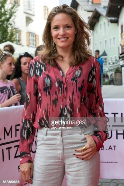 Patricia Aulitzky poses for a picture during the 'Inconvenient Sequel' premiere and opening night of the Kitzbuehel Film Festival 2017 at Filmtheater...