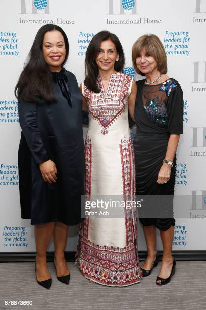 Patricia Baptiste Mona Aboelnaga Kanaan and International House Trustee Marianne Tesler attend the International House 2017 Awards Gala at The...