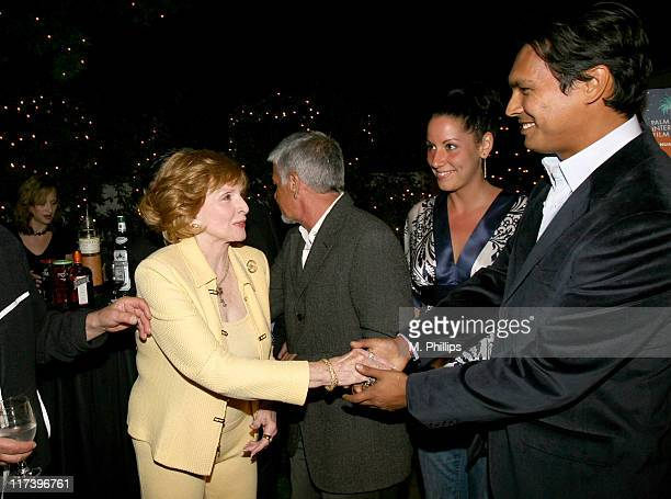 Patricia Barry Tara Mason and Adam Beach during Palm Springs International Film Festival and Los Angeles Confidential Cocktail Reception at Private...