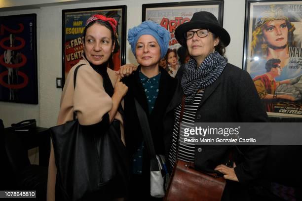 Patricia Belatti Magda Macle Ximena Cuevas posando during the screening of Jorge Dalton's film 'Eliseo Lichi Diego' at Cosmopolitan Film on December...