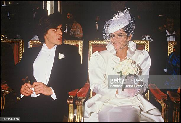 Patricia Belmondo and her husband at their wedding in 1986.