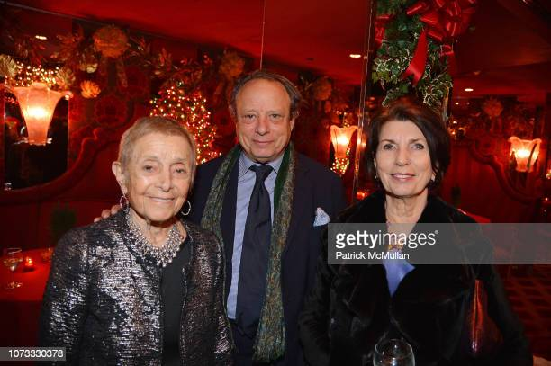 Patricia Birch Jonathan Becker and Pamela Fiori attend George Farias Anne Jay McInerney Host A Holiday Party at The Doubles Club on December 13 2018...