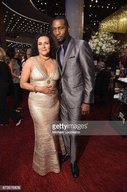 Patricia Blanchet and actor Leon Robinson attend the Jazz at Lincoln Center 2017 Gala Ella at 100 Forever the First Lady of Song on April 26 2017 in...