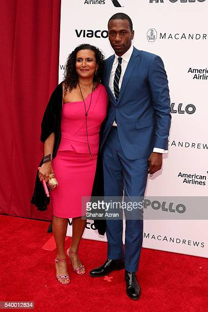 Patricia Blanchet and Leon Blanchet attend Prince Walk of Fame Induction and 2016 Spring Gala at The Apollo Theater on June 13 2016 in New York City