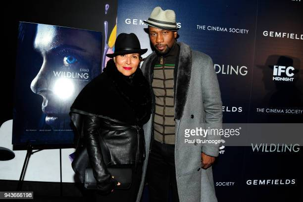 Patricia Blanchet and Leon Robinson attend The Cinema Society Gemfields host a special screening of IFC Midnight's Wildling at iPic Theater on April...