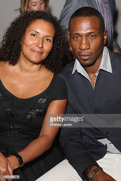 Patricia Blanchet and Leon Robinson attend the Ricardo Seco fashion show during MercedesBenz Fashion Week Spring 2014 at Eyebeam Studio on September...
