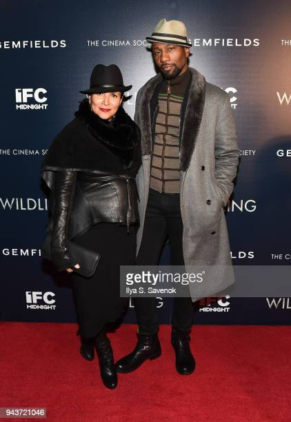 Patricia Blanchet and Leon Robinson attend Wildling New York Screening at iPic Theater on April 8 2018 in New York City