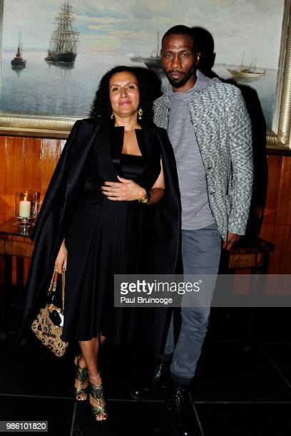 Patricia Blanchet and Leon Robinson attends The Cinema Society With Synchrony And Avion Host The After Party For Marvel Studios' AntMan And The Wasp...