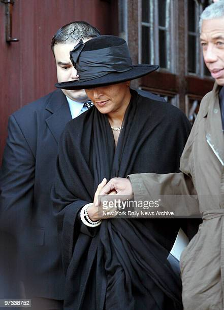 Patricia Blanchet leaves Riverside Church after a memorial service for her husband newsman Ed Bradley who died earlier this month from leukemia at...