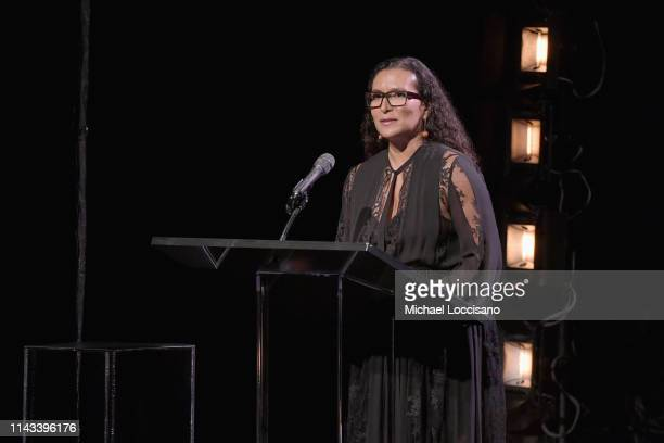Patricia Blanchet speaks onstage during Jazz at Lincoln Center's 2019 Gala The Birth of Jazz From Bolden to Armstrong at Frederick P Rose Hall Jazz...