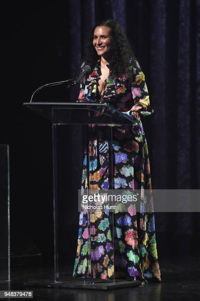 Patricia Blanchet speaks onstage during Jazz At Lincoln Center's 30th Anniversary Gala at Jazz at Lincoln Center on April 18 2018 in New York City