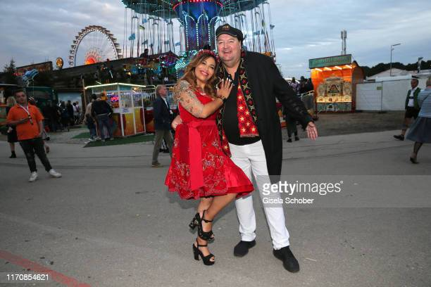 Patricia Blanco and her boyfriend Andreas Ellermann during the Oktoberfest 2019 at Theresienwiese on September 24 2019 in Munich Germany