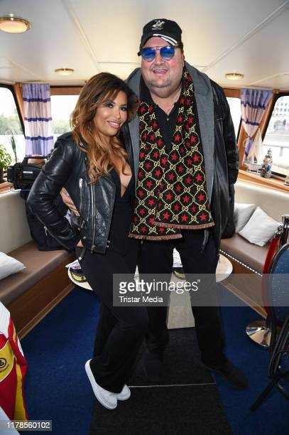 Patricia Blanco and her boyfriend Andreas Ellermann during the Venus Busen Boat Tour on September 30 2019 in Berlin Germany