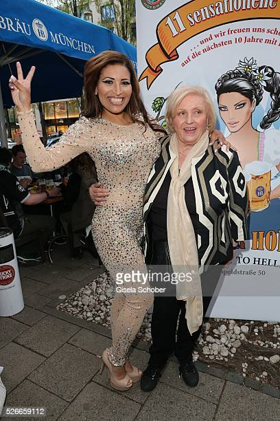 Patricia Blanco and her mother Mireille Blanco, former wife of Roberto Blanco during the 11th anniversary 'Highway to Helles' of 'Bachmaier Hofbraeu'...