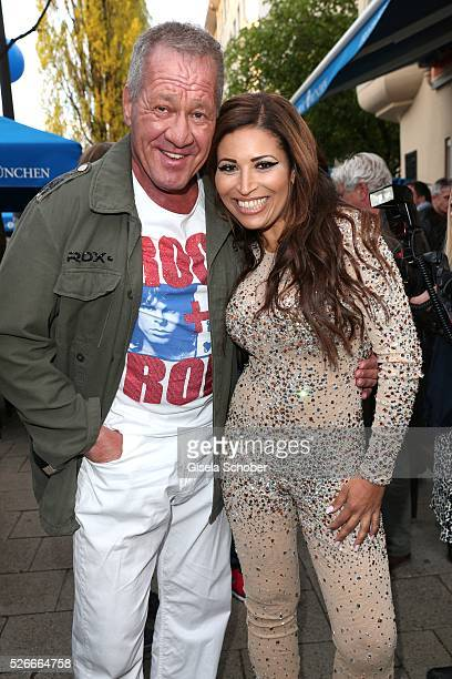 Patricia Blanco and Hugo Bachmaier during the 11th anniversary 'Highway to Helles' of 'Bachmaier Hofbraeu' in Munich on April 30 2016 in Munich...