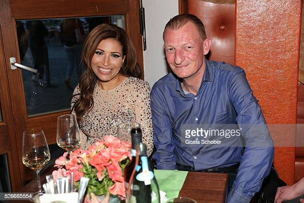Patricia Blanco and Michel Schwarz during the 11th anniversary 'Highway to Helles' of 'Bachmaier Hofbraeu' in Munich on April 30 2016 in Munich...
