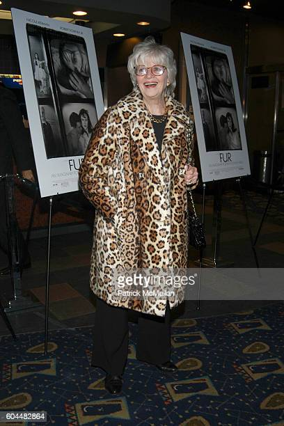 Patricia Bosworth attends Screening of FUR An Imaginary Portrait of Diane Arbus Hosted by Bob Berney and Simon de Pury at Chelsea West Cinema on...