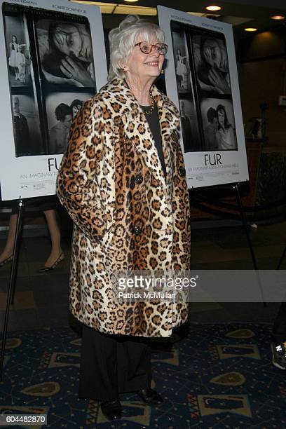 """Patricia Bosworth attends Screening of """"FUR: An Imaginary Portrait of Diane Arbus"""" Hosted by Bob Berney and Simon de Pury at Chelsea West Cinema on..."""